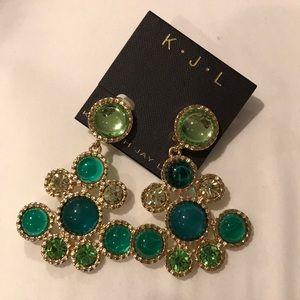 KJL brand new hanging gem earrings